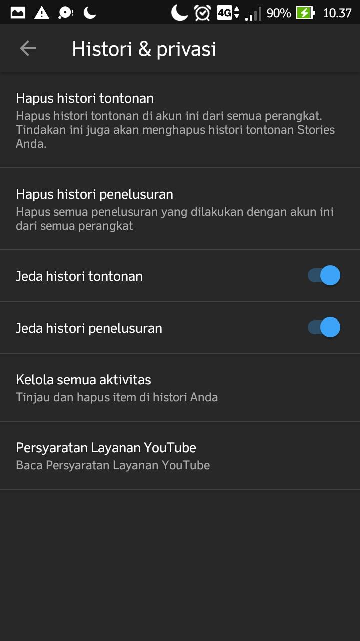 cara memulai jualan online - Cara Menonaktifkan Histori Tontonan di Youtube Android step 6 - Cara Memulai Jualan Online