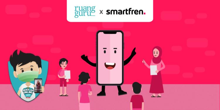 paket ruangguru dengan smartfren - ruang guru   Smartfren 01 750x375 - Kuota 30GB Paket Ruangguru dengan Smartfren