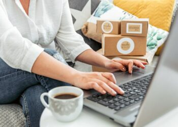 Cara Menjadi Eksportir Pemula yang Sukses - young woman working on laptop from home woman with her own online business online shopping one person t20 YEo0WO 350x250 - Cara Menjadi Eksportir Pemula yang Sukses